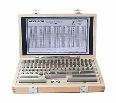 Accusize Industrial Tools 87 Pc Metric Gage Block Set, Grade 2, Din861 Germany