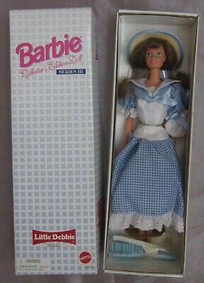 Little Debbie Barbie doll Series 3 Collector's Edition straw hat purse 1997