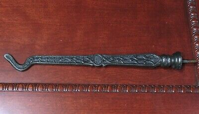 "old Plant Hook Bird Cage  9 1/2"" restored vintage fancy decorated cast iron"