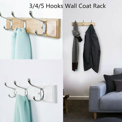 Coat Rack Wall Mounted Farmhouse Vintage Rustic Coat Rack Hat Hanger 3/4/5 Hooks