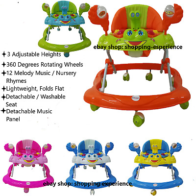 Baby Walker Push Bouncer Activity Musical Melody Toy Along Ride On Tope Quality