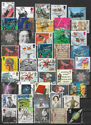 GB commemorative stamps x 90 used off paper