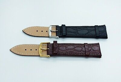 New 20mm Longines Watch Leather Replacement Strap with Buckle