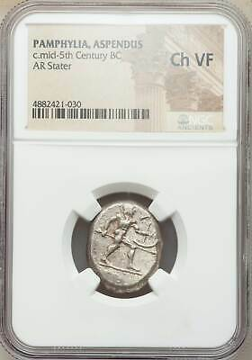 PAMPHYLIA Aspendus Silver Stater ancient Greek old coins NGC CERTIFICATION