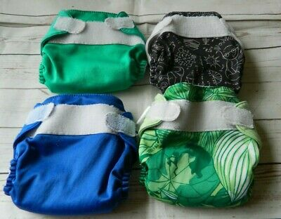 4 BumGenius XS/Newborn Cloth Diapers Hook & Loop Closure