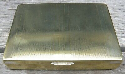 JEWELLERY BOX / CIGARETTE CASE, GOLD GILDED, 1950s / 1960s - Made in England