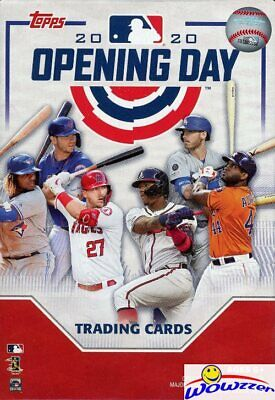 2020 Topps Opening Day Baseball Factory Sealed HANGER Box-40 Cards-4 INSERTS