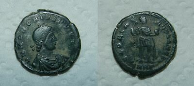 ANCIENT ROME : HONORIUS 393-423 A.D.  BRONZE (Ae2)  23mm GLORIA ROMANORVM