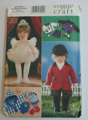 "VOGUE 9528 18"" Doll CLOTHES sewing pattern BALLET, HORSE RIDING, SOCCER SWIMMING"