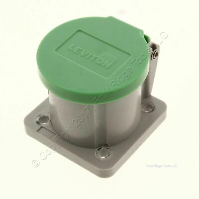 Leviton 16 Series Green Panel Mount Automatic Closing Lid Bulk 16S31-G NO GASKET