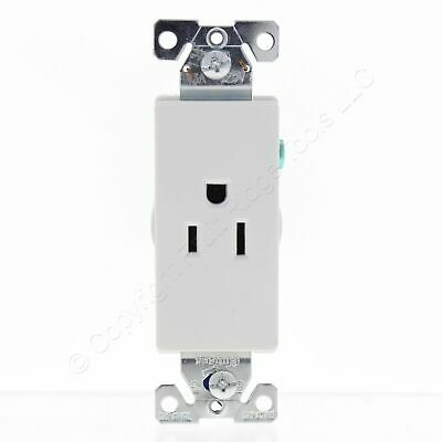 Cooper White Decorator Single Outlet Receptacle 15A 125V 2P3W 5-15R B&S 6250W