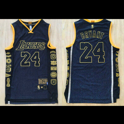 Retirement Commemorative #24 Kobe Bryant Stitch Sewn Los Angeles Lakers Jersey