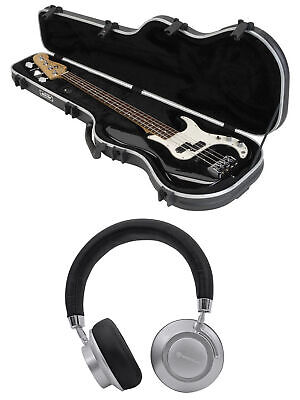 SKB 1SKB-FB-4 Precision Electric Bass Guitar Hard Case+Free Wireless Headphones