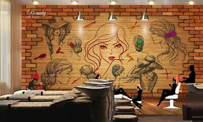 Details about  /3D Elegant Girl 816NA Business Wallpaper Wall Mural Self-adhesive Commerce Amy