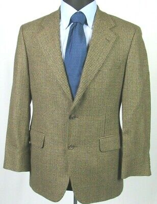 Men's Brooks Brothers 100% Lambs Wool 2 Button Houndstooth Sport Coat 38 Short