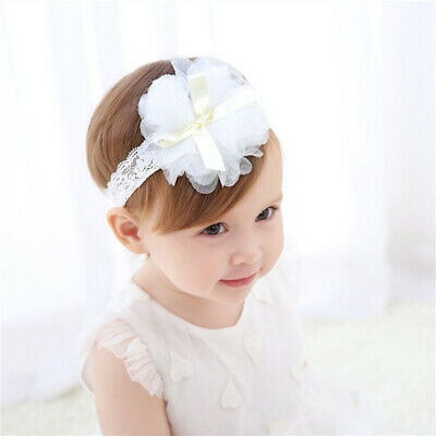 Cute Girls Toddler Baby Ribbon Bow Kids Head Wrap Hair Band Headband Headwear