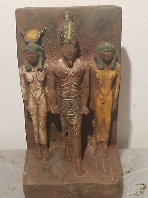 Rare Antique Ancient Egyptian Statue King menkaure Gods Isis Amun Hathor2530 BC