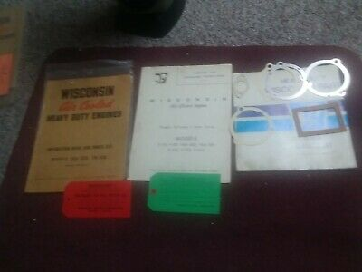 Wisconsin Engines Model Tr-10D Tra-10D Engine Manual + Operating Manual Gaskets