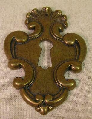 5 Cast  Brass French Escutcheons Key Hole Covers Cabinet Furniture Hardware