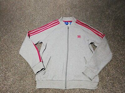 Girls Adidas Grey & Pink Zip Up Age 13-14 years Vgc