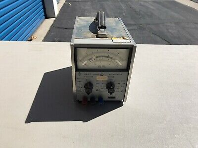 HP Hewlett Packard 427A Voltmeter! Made In USA! Option 1 115/230 Volts!