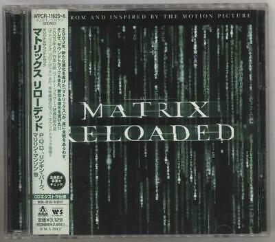 Original Soundtrack The Matrix Reloaded 2 CD album (Double CD) Japanese promo