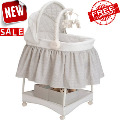 ROCKING BASSINET INFANT CRADLE Bedside Portable Sleeper Newborn Nursery Lounger