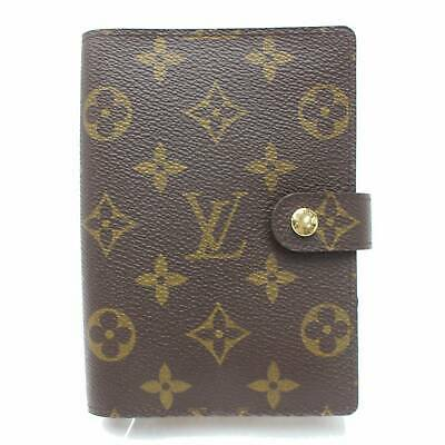 Authentic Louis Vuitton Diary Cover Agenda PM Browns Monogram 990185