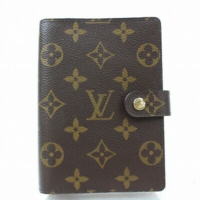 Authentic Louis Vuitton Diary Cover Agenda PM Browns Monogram 1000222