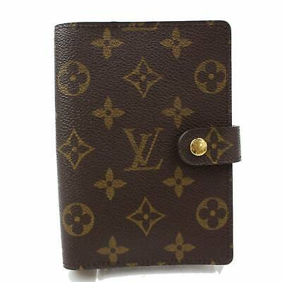 Authentic Louis Vuitton Diary Cover Agenda PM Browns Monogram 344048