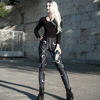 Gothic street comfortable thin printed trousers women's wild girls sports pants