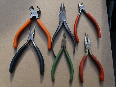 Watchmakers Tools Pliers Nippers Cutters Needle Nose 6 Sets Vigor  Assorted Lot