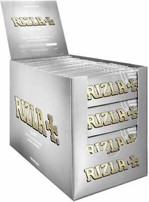 10 x RIZLA SILVER STANDARD SIZE SLIM ULTRA THIN CIGARETTE SMOKING ROLLING PAPERS