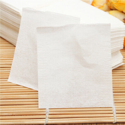500Pcs Paper Empty Draw String Teabags Heat Seal Filter Herb Loose Tea Pouch Bag