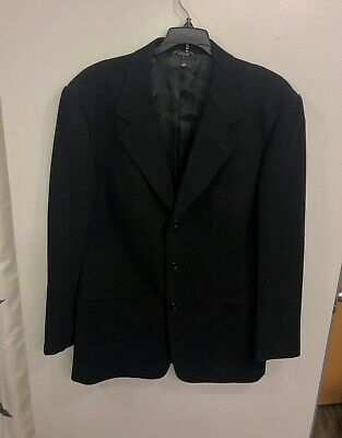 Men's Banana Republic Suit Jacket Black 44R Made In Italy