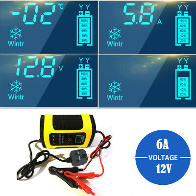 New Intelligent Car Battery Charger Three Step Automatic Lead Acid/GEL 12V/6A