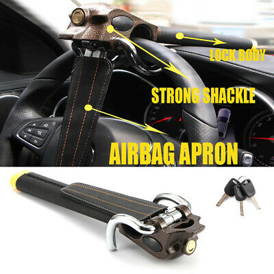 Universal Auto Anti Theft Locking Car Steering Wheel Lock With Keys Security UK