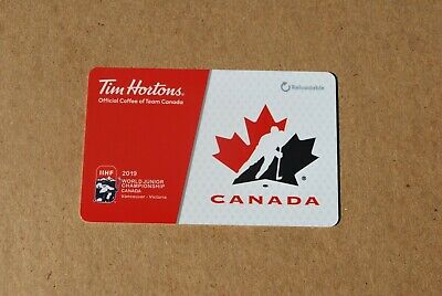 Tim Hortons Gift Card 2019 World Juniors Canada New 4 Available Free Shipping