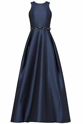 ML Monique Lhuillier Blue Embellished Women's Gown Dress Size 10 USA Selller