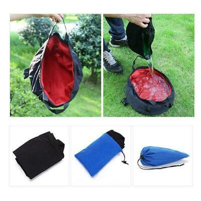 8.5L Outdoor Survival Folding Washbasin Camping Basin Portable Bag Equipmen V6K3