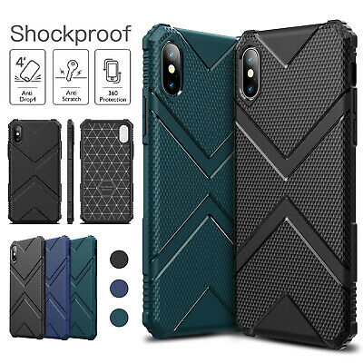 iPhone XR XS X 11 Pro Max 8 7 Plus case,Rugged Armor Heavy Duty Full Tough Cover