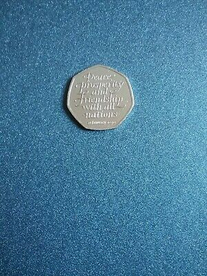 New Brexit 50p Coin 2020 Fifty Pence Rare Uncirc from heat sealed bag