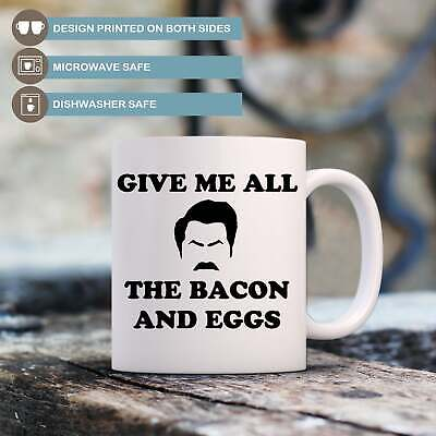 Ron Swanson Funny Coffee Mug Parks and Recreation Mens Quote Cup Gift for Him