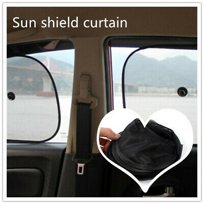 Black Mesh Blinds UK Car Window Sun Shades Stopper 2pcs Visor Shield Cover