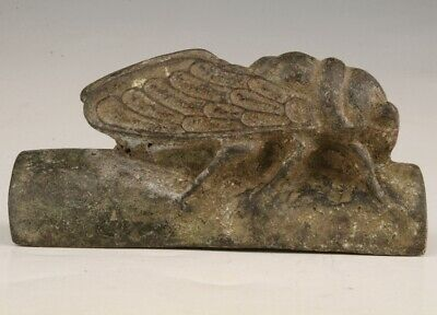 Retro China Bronze Statue Cicada Sacred Mascot Collects Old Gift