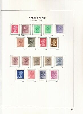 Gb  Machins Issued 1982-1985 Detailed Inc Gum/Paper Etc, All Identified Umm/Mnh