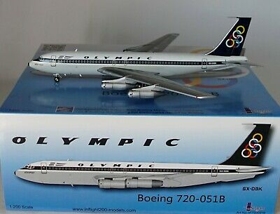 INFLIGHT 200 IF7200916  BOEING 720-051B  OLYMPIC SX-DBK WITH STAND in 1:200