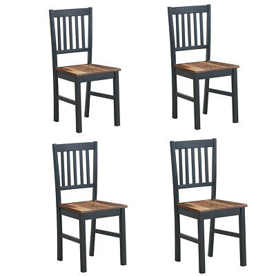 Modern Set of 4 Dining High Back Chair Spindle Back Wooden Legs with Foot Pads