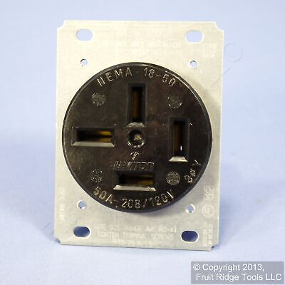 Leviton Straight Blade Receptacle Power Outlet 18-50R 50A 120/208V 3ØY Bulk 8350