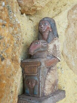 Rare Antique Ancient Egyptian statue Leader Army Horemheb  war God Hathor 1292BC
